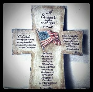 Wall plaque / Prayer for our soldiers